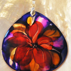 Santa Fe Marketplace Red Flower Pendant