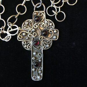 Santa Fe Marketplace Silver Cross Pendant