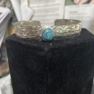 Santa Fe Marketplace Hand Stamped Cuff Bracelet