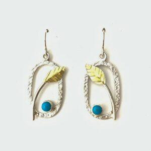 "Santa Fe Marketplace Turquoise ""Leaf"" Earrings"