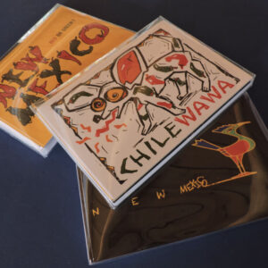 "Santa Fe Marketplace ""New Mexico"" Greeting Cards with original Illustration by William Rotsaert"