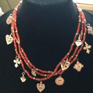 Santa Fe Marketplace 3 Strand Charm Necklace