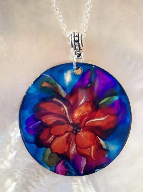 Santa Fe Marketplace Cherry Flower Pendant II