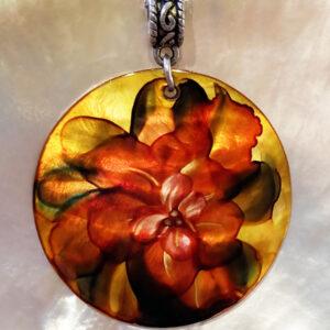 Santa Fe Marketplace Amber Flower Pendant