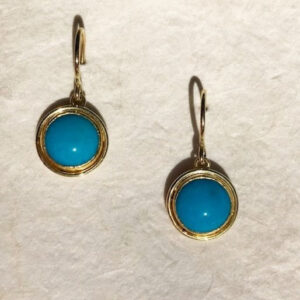 Santa Fe Marketplace 22KY & 18KY Gold Sleeping Beauty Turquoise