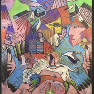 Santa Fe Marketplace Migration of the Fiercest Oil Painting