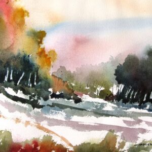 Santa Fe Marketplace Wilderness Glade – Original Watercolor Painting