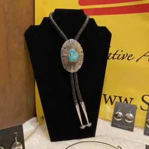 Santa Fe Marketplace Darling Darlene Turquoise & Sterling Silver Bolo Tie