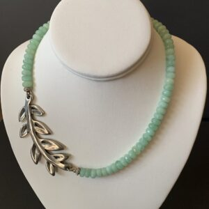 Santa Fe Marketplace Chrysoprase and Leave Necklace