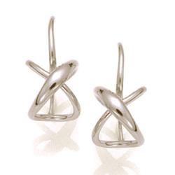 """Santa Fe Marketplace """"Secret Heart"""" French Wire Earrings"""