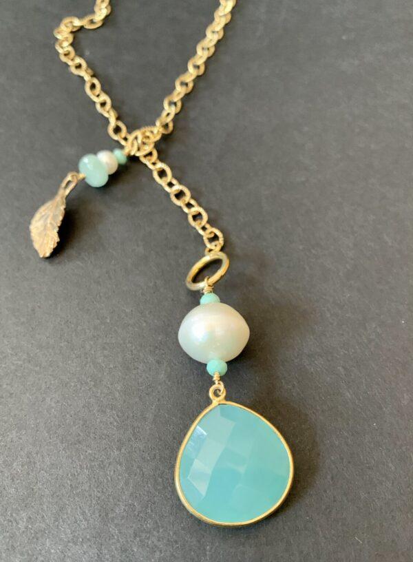 Santa Fe Marketplace Chrysoprase Lariat Necklace
