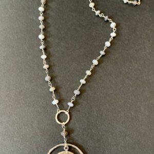 Santa Fe Marketplace Variegated Agate Necklace