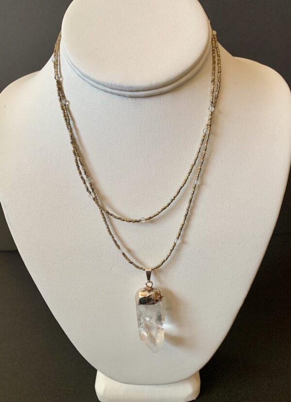 Santa Fe Marketplace Lucky Crystal Necklace