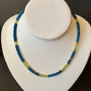 Santa Fe Marketplace Apatite and Peridot Necklace