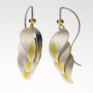 "Santa Fe Marketplace ""Heliconia"" Silver & Gold Earrings"