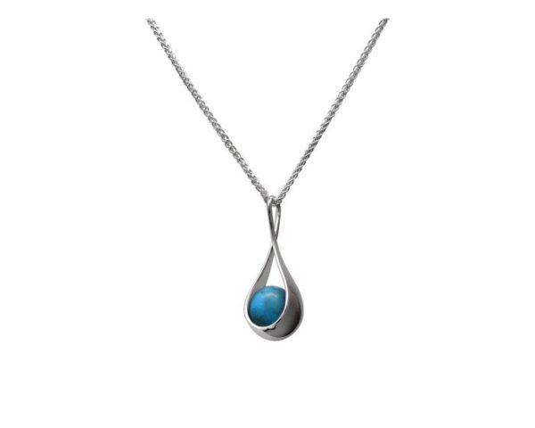 "Santa Fe Marketplace Silver ""Captivating"" Turquoise Necklace"