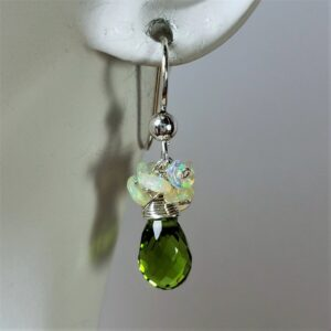 "Santa Fe Marketplace ""Evergreen Dew Drop"" Earrings"
