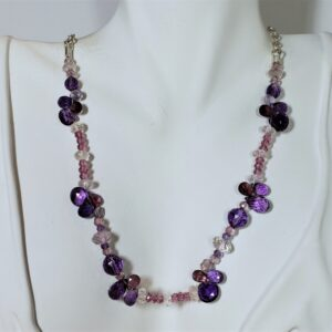"Santa Fe Marketplace Sterling Silver ""Purple Paradise"" Necklace"