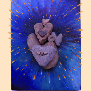 "Santa Fe Marketplace ""Art is heart Love"" Giclee print of original art by William Rotsaert"