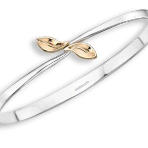 """Santa Fe Marketplace Gold & Silver """"Be-Leaf"""" Bracelet"""