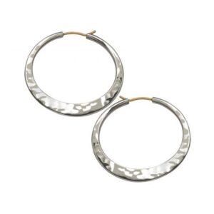 """Santa Fe Marketplace """"Hand Hammered Hoop"""" Earrings"""