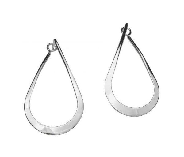 """Santa Fe Marketplace """"Drop"""" Silver Post Earrings"""