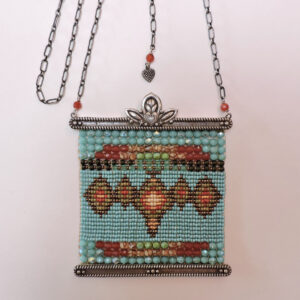 """Santa Fe Marketplace """"Family"""" Chili Rose Necklace by Adonnah Langer"""