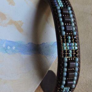 "Santa Fe Marketplace ""Mingus"" Men Chili Rose Cuff leather bracelet"