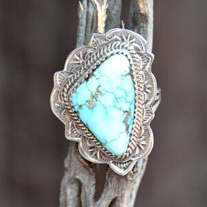 Santa Fe Marketplace Burnham Turquoise Sterling Silver Ring