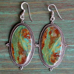 Santa Fe Marketplace Patagonia Turquoise Dangle Earrings