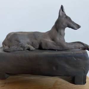 Santa Fe Marketplace Gigi Mills –Dog with Crossed Paws