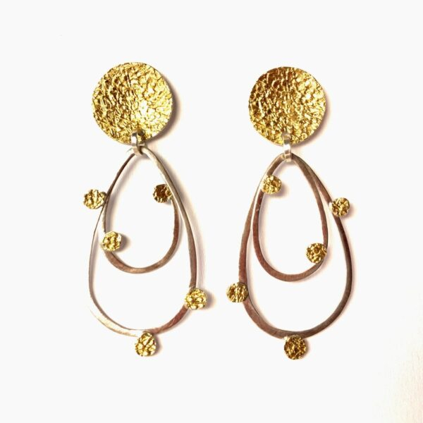"""Santa Fe Marketplace Gold & Silver """"Loopie"""" Post Earrings"""