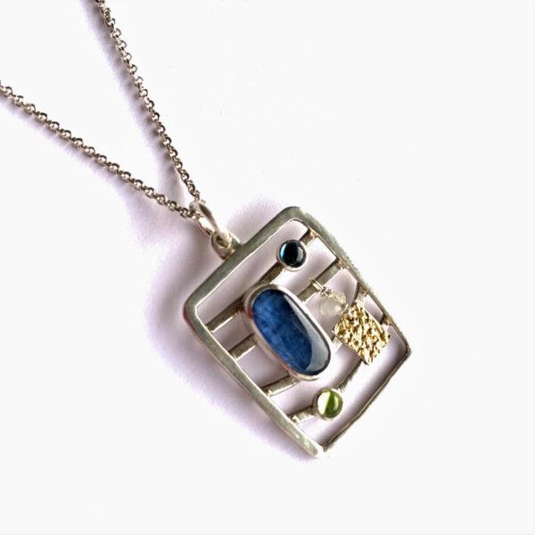 "Santa Fe Marketplace Silver ""Music"" Necklace"