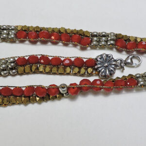 "Santa Fe Marketplace ""Flamenco wrap"" Chili Rose Wrap bracelet by Adonnah Langer"