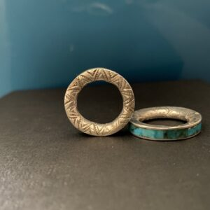Santa Fe Marketplace Inlay Stamped ring