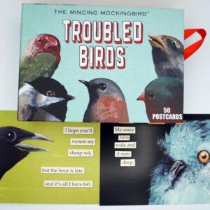 Santa Fe Marketplace Matt Adrian's The Mincing Mockingbird Troubled Birds 50 Postcard Set