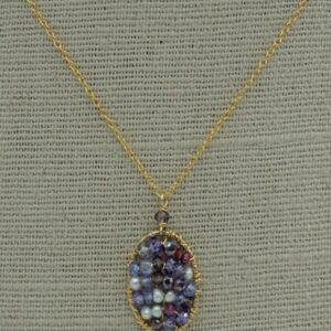 Santa Fe Marketplace Mosaic Gemstone Cluster Necklace