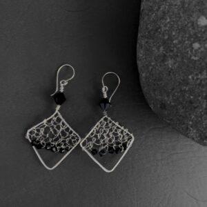 Santa Fe Marketplace Handwoven Silver Earrings