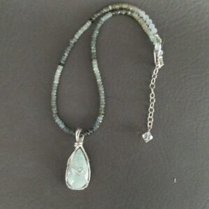 Santa Fe Marketplace Shades of Green Aquamarine Necklace