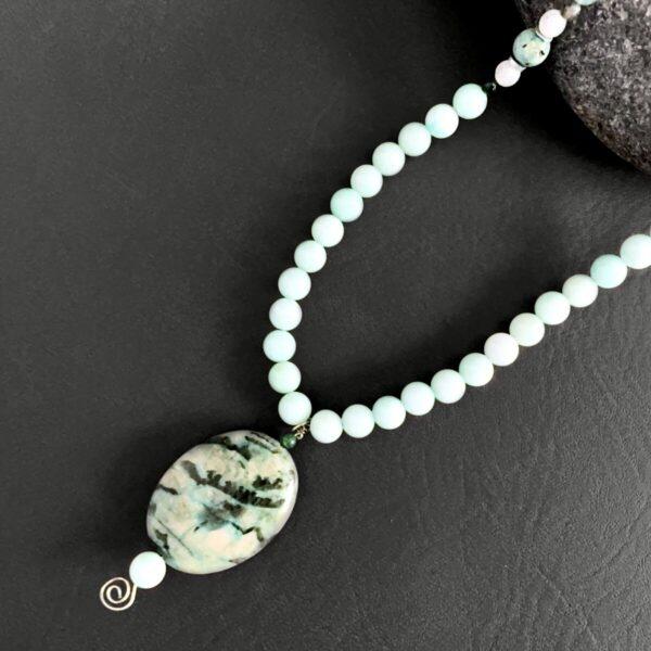 Santa Fe Marketplace Amazonite and African Turquoise Necklace