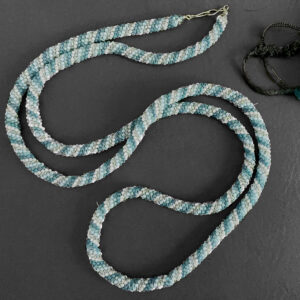 Santa Fe Marketplace Shades of Blue Beaded Rope Necklace