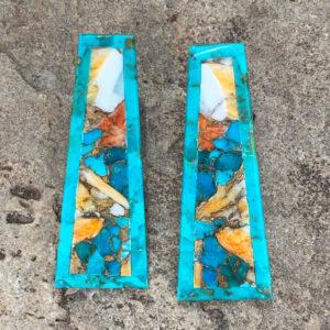 Santa Fe Marketplace Turquoise Mosaic Earrings