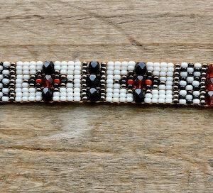 "Santa Fe Marketplace ""The Dancers"" Chili Rose Classic Bracelet by Adonnah Langer"
