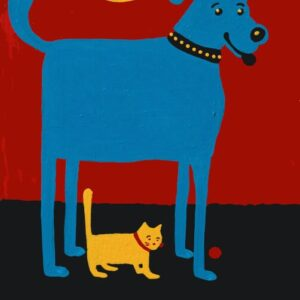 Santa Fe Marketplace Cards Rescued is My Favorite Breed or art print copyright Hillary Vermont