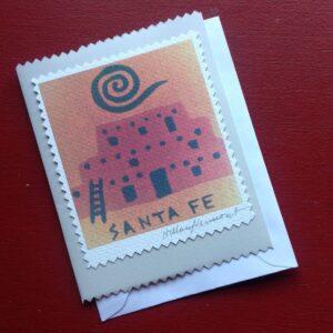 Santa Fe Marketplace 4 Santa Fe note cards hand made copyright Hillary Vermont