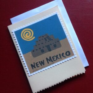Santa Fe Marketplace 4 New Mexico Hand Made Note Cards copyright Hillary Vermont