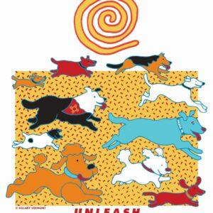 Santa Fe Marketplace Unleash Giclee Art Print 8.5″x11″ c Hillary Vermont