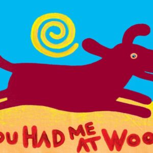 Santa Fe Marketplace Red Dog You Had Me at Woof art print 8.5″ x11″ brown dog copyright Hillary Vermont