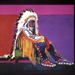 Santa Fe Marketplace Young Plains Chief – Poster