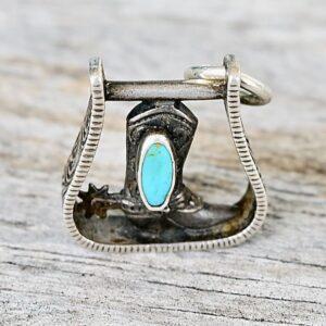 Santa Fe Marketplace Horseshoe & Turquoise Charm